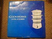 Cookworks 3 bowl steamer for sale