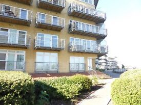 Modern one bed apartment with river views and reserved parking
