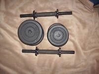 2 sets of dumbells
