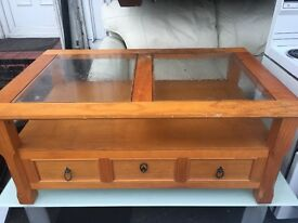 Nice Wooden Coffee Table with Drawers