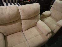 Matching fawn sofa & chair set 2+1