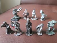 1980s Dungeons and Dragons Lead Figurines.