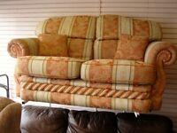 Ornate Regency Stripe 2 Seater Sofa Settee