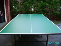 Butterfly,Playback, full size, Folding indoor Table Tennis Table on metal frame and casters.