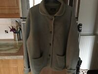 HOBBS sage green fleece/jacket size M/L. Superb condition washed & ready to wear. Warm & very cosy.