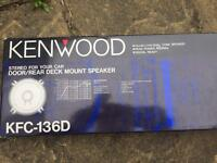 New pair of kenwood door/rear mount speaker 45w