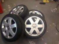 4 x Audi TT alloys and tyres