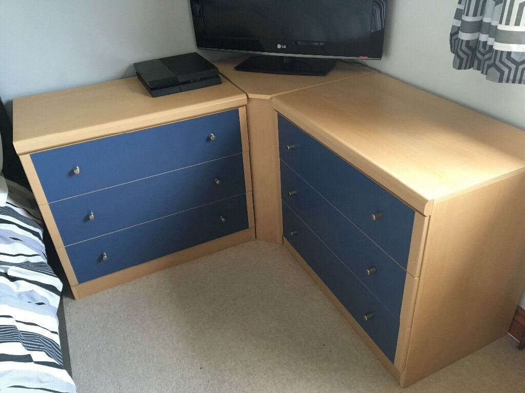 Bedroom Units 3 Drawer Chest X 2 Desk With Pedestal. Corner Drawer Unit Bedroom   Home Design