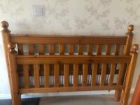 Solid wood kings size bed