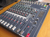Yamaha MG124CX mixer + case 12 channel, 6 mics, built-in effects, 4 aux