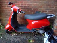 Vespa 50cc learner scooter, only 650 mile on the clock