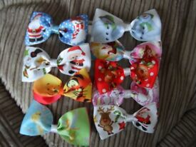 Childrens Christmas bows about 13 cm