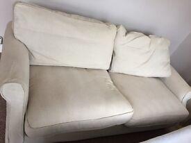 Sofa , 3 Seater Cream Color in Great Conditiom .