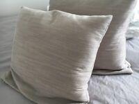 Pair of sofa cushions (stone/beige)