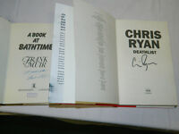 2 1st edition books 'Death List' by Chris Ryan and 'About a bath time' by Frank Muir