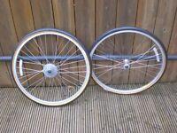 "26"" Shimano Deore DX Wheelset Mavic M231 Rims and 26x1.5 city tyres"