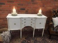 Elegant Shabby Chic Painted Sideboard with Drawers - UK Delivery