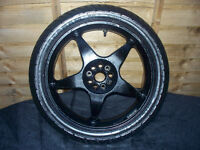 "Michelin 130 70 17 62H *NEW* Motorbike Tyre on 17"" 5 Spoke Single Sided Used Rim"