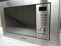 Hotpoint MHW122.1X Integrated (Built- In) 800w Microwave Oven & Grill in Stainless Steel.
