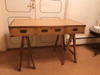 Vintage Desk & Bedside Table