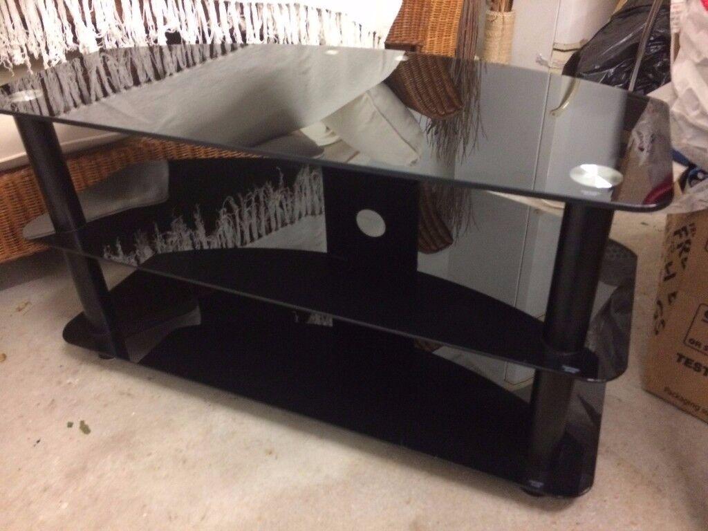 Matrix black glass tv unit