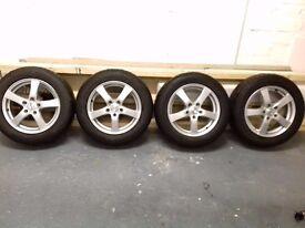 "4x 17"" Alloy Wheels & Winter Tyres"