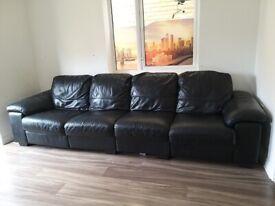 Large 4 seater leather sofa