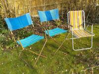 Vintage Garden Chairs Set of 3