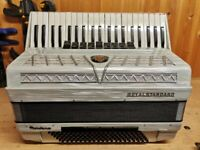 Royalstandard Montana, 4 Voice Musette (LMMM), 120 Bass, Piano Accordion. Lessons Available.