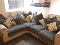 Grey Slate Corner Sofa