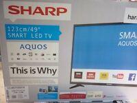 "Sharp Aquos 49"" Smart HD LED TV Brand New Unopened Box"