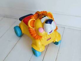 Toy riding vehicle and walker