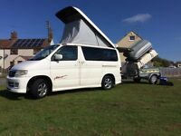 MAZDA BONGO Friendee aero city runner 2.5 petrol/LPG and single axial trailer with Merc top box