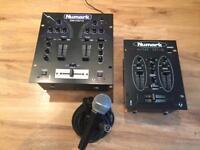 NUMARK DM1001X 2 CHANNEL DJ MIXER + Extras