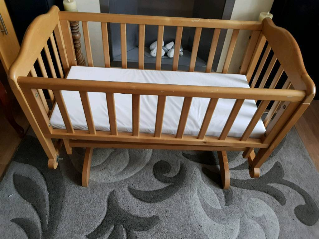 Solid Wooden Gliding Crib Cot Bassinet In Southampton Hampshire Gumtree