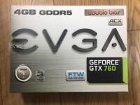 EVGA GeForce GTX 760 Super Clocked 4GB GDDR5 Graphics Card