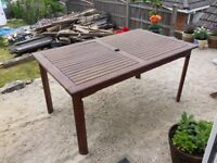 Table for garden wood (Bought from Haskins)