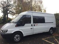 Ford Transit 2.4 Converted Campervan 2001. (£3500 or best offer). Low Mileage/6 months MOT