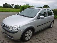 vauxhall corsa, silver, 5 door, 2003.