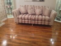four seater sofa and armchair ,one year old,excellent condition,cost£2400 sell for £400 ONO