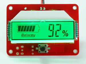 Digital LCD Indicator Battery Capacity Tester für 12V 48V Lead-acid Lithium LiPo
