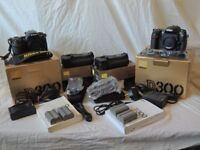 For sale two Nikon D 300 camera's