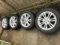 Jaguar Alloy Wheels and Winter Tyres - (Jaguar XF URSA 17 Inch) Tyres as New