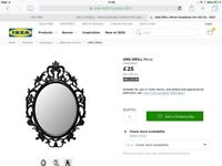 Black Ornate Mirror from Ikea - Excellent Condition
