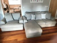 Grey next sofa and chair