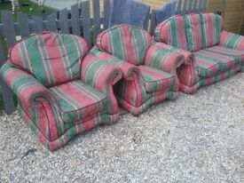 3 setter sofa and 2 arm chairs