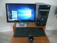 HP Pavillion PC & Flat Screen Monitor