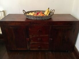 Dakota Large Sideboard, Solid Mango Wood