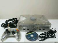 Limited Edition Crystal Xbox with Crystal Controller, Cables and game