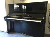Yamaha U3s upright accoustic piano - polished black 12 years old
